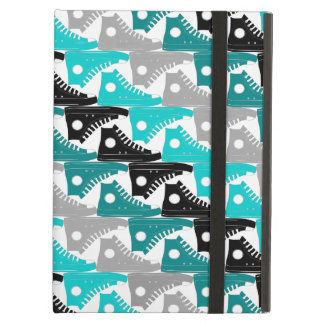 High Tops Teal-n-Black Shoes Cover For iPad Air