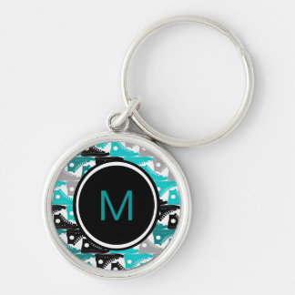 High Tops Teal-n-Black Shoes Keychain