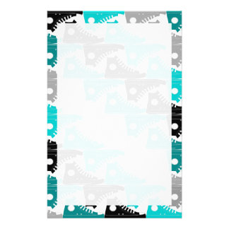 High Tops Teal-n-Black Shoes Stationery
