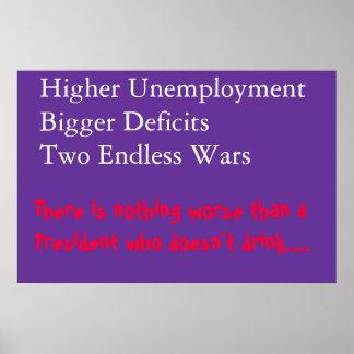 High unemployment poster