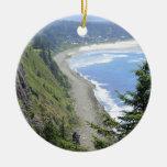 High View of Oregon Coast Christmas Ornament