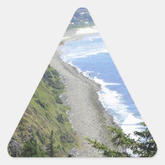 High View of Oregon Coast Triangle Sticker