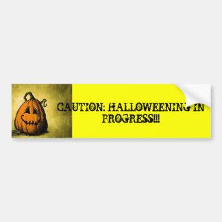 High Visibility Halloween Safety Car Bumpersticker Bumper Sticker