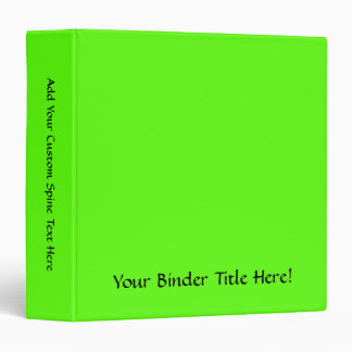 High Visibility Neon Green 3 Ring Binders