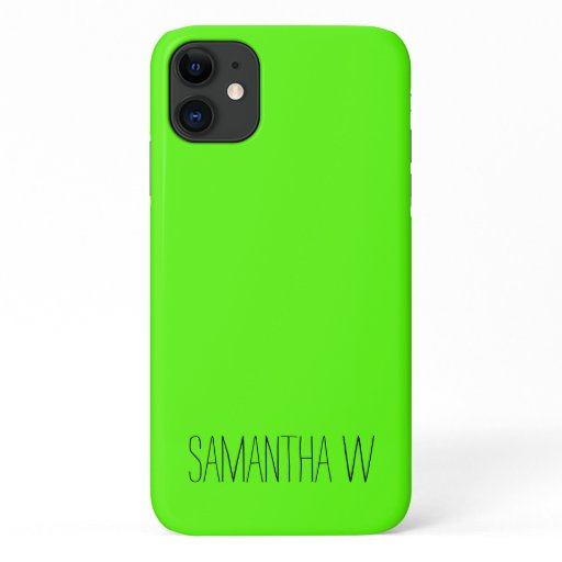 High Visibility Neon Green iPhone 11 Case