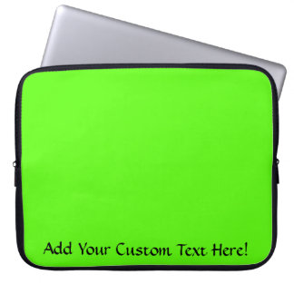 High Visibility Neon Green Computer Sleeves