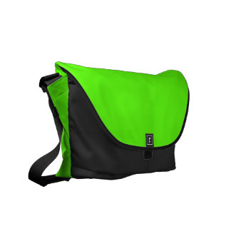 High Visibility Neon Green Courier Bag