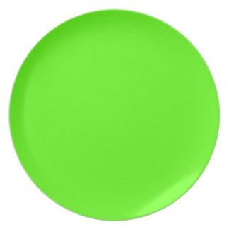 High Visibility Neon Green Melamine Plate