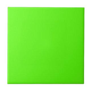 High Visibility Neon Green Ceramic Tiles
