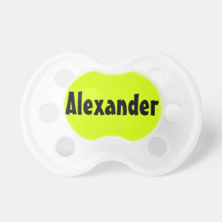 High Visibility Personalized Name Baby Pacifier