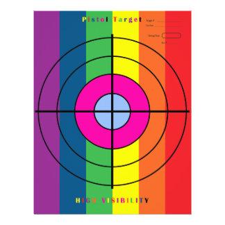 High Visibility Pistol Target Flyer