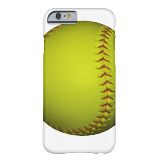 High Visibility Yellow Softball Barely There iPhone 6 Case