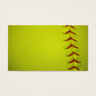High Visibility Yellow Softball Business Card