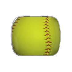 High Visibility Yellow Softball Candy Tin at Zazzle