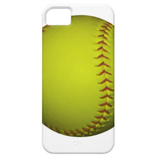 High Visibility Yellow Softball iPhone SE/5/5s Case