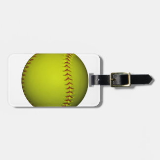 High Visibility Yellow Softball Bag Tag