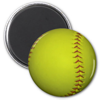 High Visibility Yellow Softball Magnet
