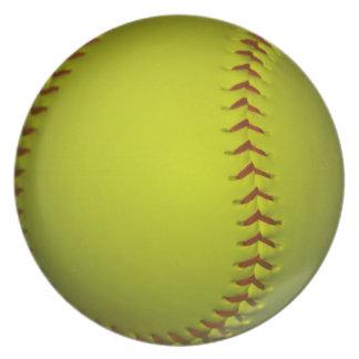 High Visibility Yellow Softball Plate