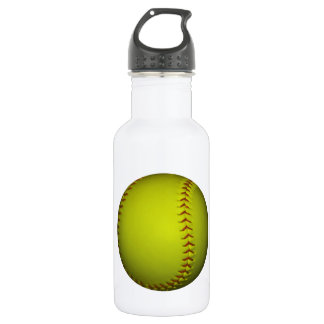 High Visibility Yellow Softball Stainless Steel Water Bottle