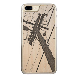 High Voltage - black and white industrial photo Carved iPhone 8 Plus/7 Plus Case