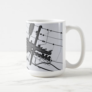 High Voltage - black and white industrial photo Coffee Mug