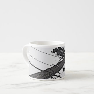 High Voltage - black and white industrial photo Espresso Cup
