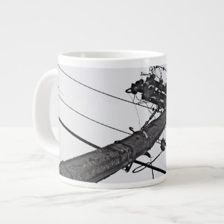 High Voltage - black and white industrial photo Giant Coffee Mug