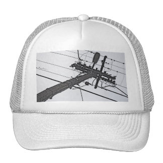 High Voltage - black and white industrial photo Trucker Hat