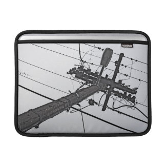 High Voltage - black and white industrial photo MacBook Air Sleeve