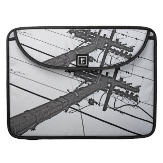 High Voltage - black and white industrial photo Sleeve For MacBook Pro
