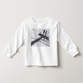 High Voltage - black and white industrial photo Toddler T-shirt
