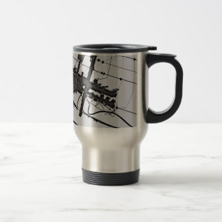 High Voltage - black and white industrial photo Travel Mug