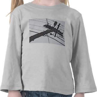 High Voltage - black and white industrial photo Tshirt