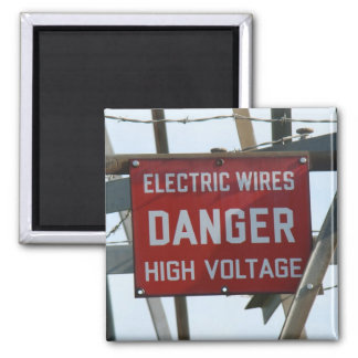 High Voltage Danger Magnet