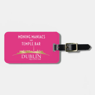 High Voltage/Dublin 2018 Luggage Tag Pink 2