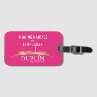 High Voltage/Dublin 2018 Luggage Tag Pink card