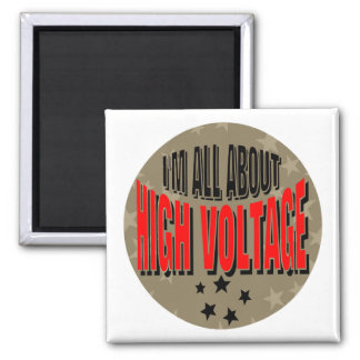 High Voltage Electrician 2 Inch Square Magnet