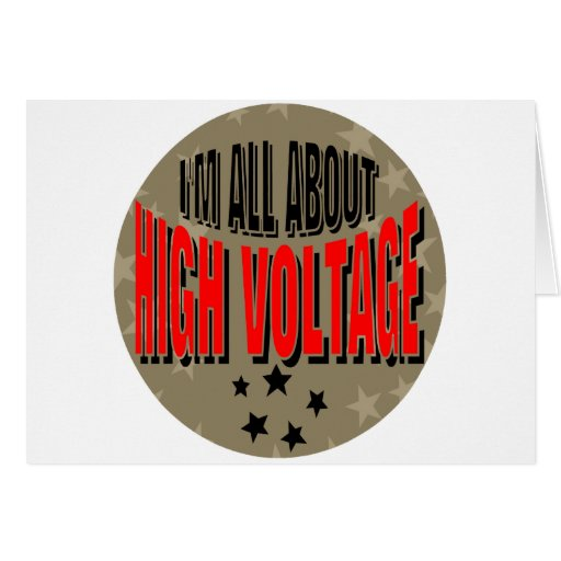 High Voltage Electrician Greeting Card