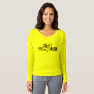 High Voltage Long Sleeve V-Neck Shirt (Yellow)