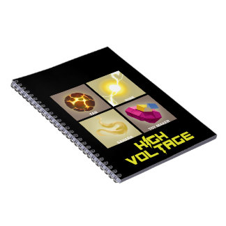 High Voltage Powers Spiral Photo Notebook