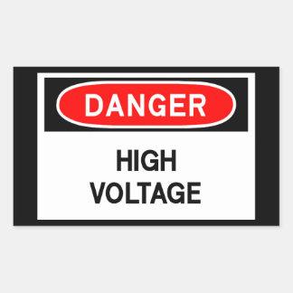 high voltage rectangular sticker