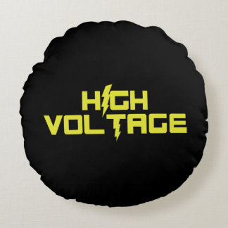 High Voltage Round Pillow