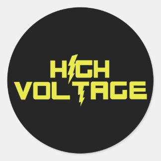 High Voltage Round Stickers