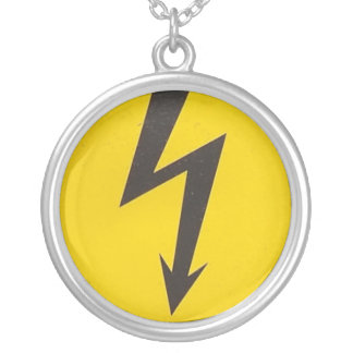 HIGH VOLTAGE SILVER PLATED NECKLACE