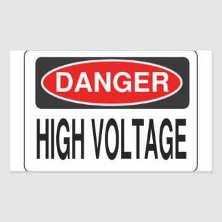 High Voltage stickers