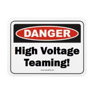 High Voltage Teaming Magnet