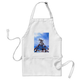 High-voltage tower on blue sky adult apron