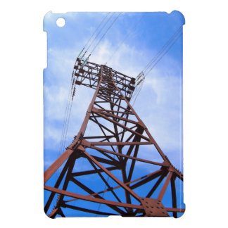 High-voltage tower on blue sky iPad mini cover