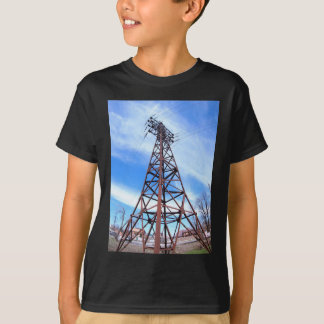 High-voltage tower with wires T-Shirt