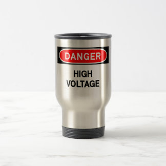 high voltage travel mug